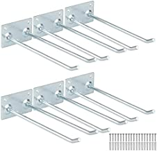 Garage Storage Utility Hooks, 8Inches Wall Mount Steel Hanger Organizer to Handle Ladder, Hold Chairs, Hang Heavy Tools for Up to 55lbs (Pack of 6)