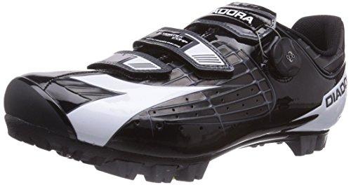 Diadora X VORTEX- COMP - Zapatillas de ciclismo de material sintético para mujer, Nero (Schwarz (schwarz/weiß 6410)), 43.5