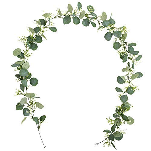 OUPPENG Gifts Artificial Eucalyptus Wreath Wall/Background/Wedding/Flower/Table Flag/Decoration Wreath Ivy - Ceremonial Decoration Artificial Leaves and Vine Ivy Wreath Decoration