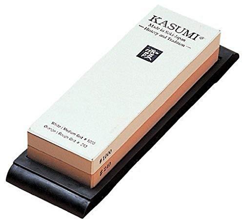 Kasumi Due Cigni Japanische Schleifsteine, Körnung 240/1000, 18 x 6,6 x 2,8 cm, Stein, Weiß/Orange, 30 x 30 x 30 cm