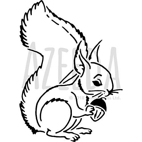 Azeeda Groß A2 'Eichhörnchen' Wandschablone / Vorlage (WS00018412)