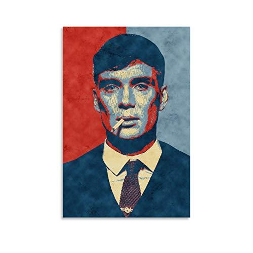 JHDSA Tommy Shelby Peaky Blinders The Bloody Gang Movie Art Print Canvas Poster Wall Poster Dormitorio Decoración Hogar Sala de Regalo Estético Baño Interesante 40 x 60 cm