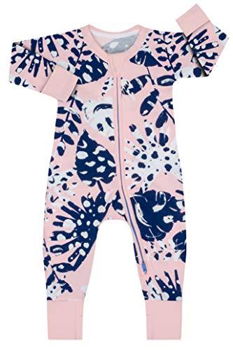 Dim 0A0I Pijama Largo para bebés y niños pequeños, Tropical Rose, 6 Meses