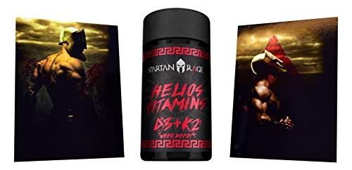 Limited Edition Gods Rage Helios Vitamin D3+K2 Aminosäure Aminos Supplement Fitness Bodybuilding