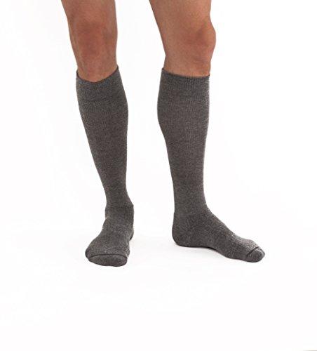 JOBST Activewear 30-40 mmHg Knee High Compression Socks, Medium, Steel Grey