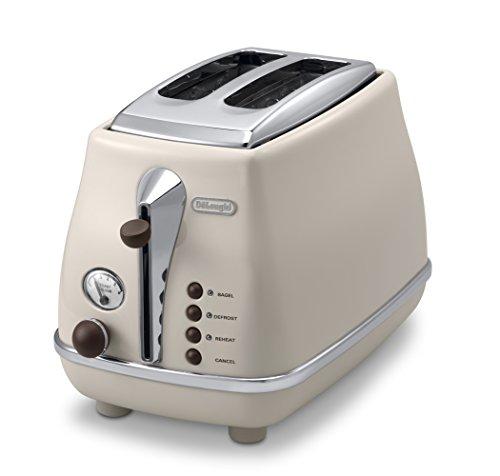 DeLonghi Pop-up toaster 「ICONA Vintage Collection」CTOV2003J-BG (Dolce Beige)【Japan Domestic genuine products】