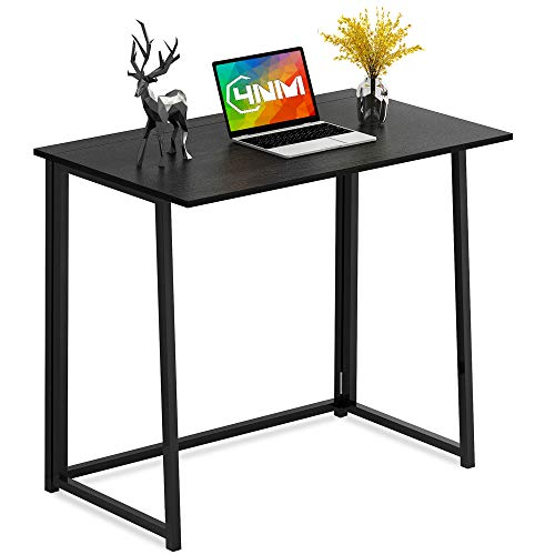 cheap 4NM Folding Table, Small Computer Table Without Assembly Home Office Desk Folding Desk…