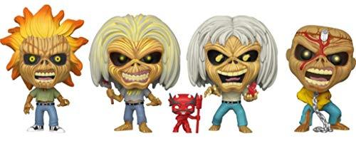 Funko POP! Rocks Iron Maiden Eddie - Juego de 4 figuras que brillan en la oscuridad (Alliance Entertainment Exclusive)
