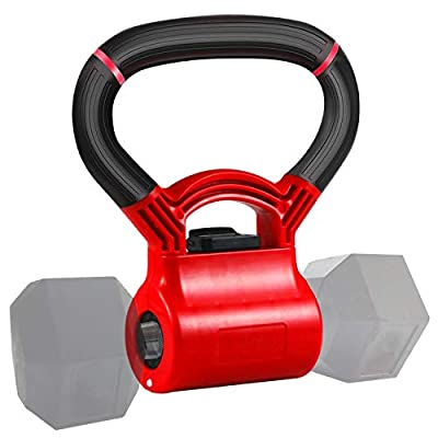 JUST4U Kettlebell Adjustable Portable Weight Grip - Turn Your Dumbbells into Kettlebells by messon company