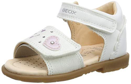 Geox Baby Mädchen B VERRED D, Weiß (White C1000), 23 EU