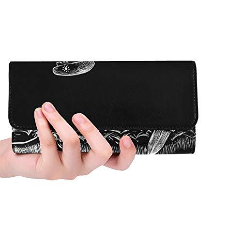 Einzigartige benutzerdefinierte alkoholische Seereise DREI Spaß Skelette Frauen Trifold Brieftasche Lange Geldbörse Kreditkarteninhaber Fall Handtasche