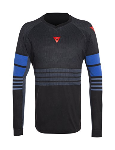 Dainese HG Jersey 1 T-Shirt de VTT Homme, Noir-Iris/Blue-Aster, FR : 2XL (Taille Fabricant : XXL)