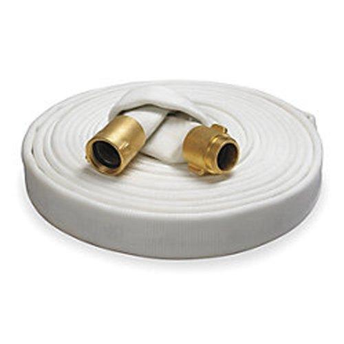 Key Fire Rack & Reel Fire Hose, White, 1-1/2' ID, 100 feet, 500 PSI Burst Pressure, M x F NST Brass Connectors