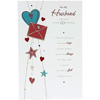 Incredible Cheap Husband 60Th Birthday Card Birthday Card For Husband Personalised Birthday Cards Paralily Jamesorg
