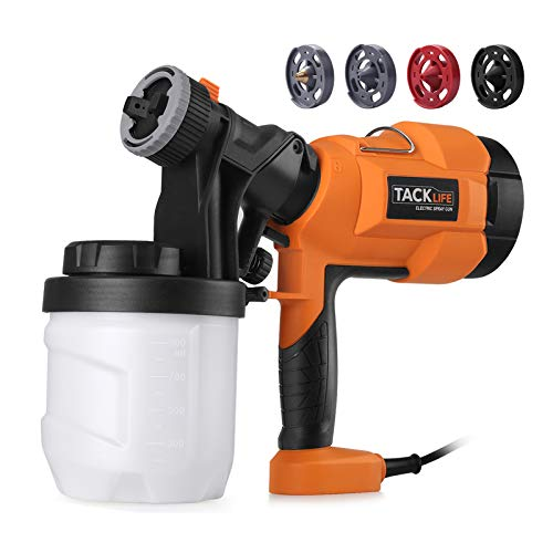 Tacklife Paint Sprayer, High Power HVLP Home Electric Spray Gun,Adjustable Valve Knob, Quick Refill Lid,4 Nozzle Sizes-TACKLIFE SGP15AC $25.64 AC @amazon