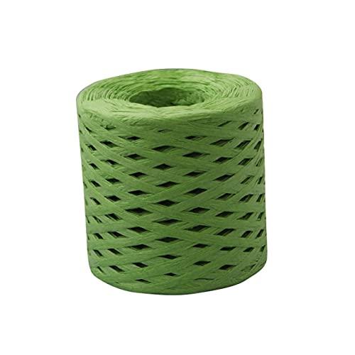 SUNYUAN Cuerda de embalaje de papel de rafia natural de 200 m para envolver regalos, cinta, ramo de envolver bricolaje, manualidades, fiesta, boda, decoración