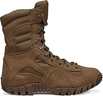 TACTICAL RESEARCH TR Men s Khyber TR550 8  Army OCP ACU Lightweight Hot Weather Mountain Hybrid Combat Boot - Coyote Brown Cattlehide Leather and Nylon Coyote - 10 R