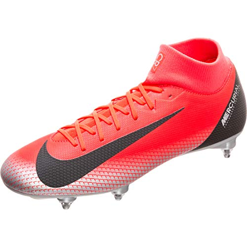 Nike Unisex-Erwachsene Superfly 6 Academy Cr7 Sg Fußballschuhe, Mehrfarbig (Bright Crimson/Black/Chrome/Dark Grey 600), 45 EU