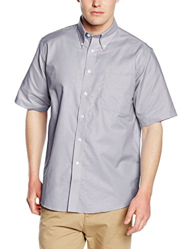 Fruit Of The Loom SS101M, Camicia Uomo Maniche Corte, Grigio (Oxford Grey), XXX-Large