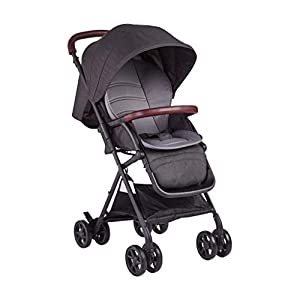 BHDesign Pushchairs High Landscape Stroller, Folding Portable, Sitting and Reclining, Four-Wheel Shockproof, Ultra-Light Travel, Newborn Infant   1