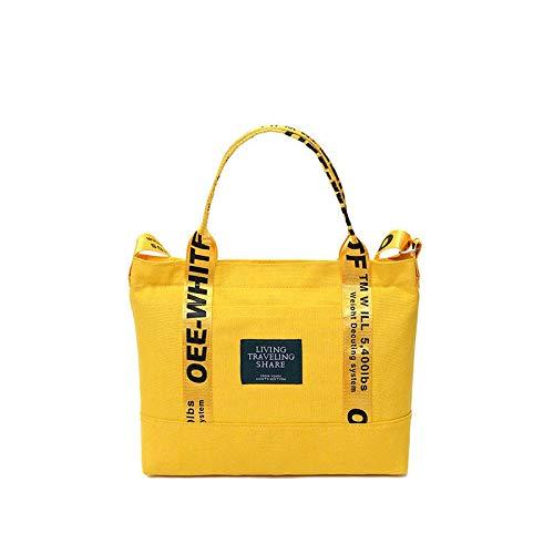 CHQCanvas Tote Bag Damen Schulter Diagonal Fashion Canvas Bag gelb 32 * 6 * 25CM