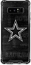 Skinit Clear Phone Case for Galaxy Note 8 - Officially Licensed NFL Dallas Cowboys Black & White Design