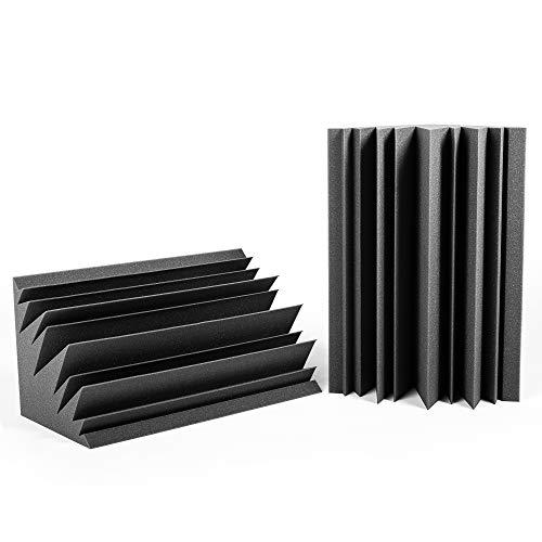 AcousPanel Trampa de Graves Studio Pro. Set Bass Trap de 2 piezas de 60x30x30 cm. Color gris antracita. Espuma acústica de alta absorción para bajas frecuencias.