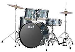 Item may ship in more than one box and may arrive separately Ready to rock right out of the box! 9 ply, 7mm Poplar Shells & 1.2mm Triple Flanged hoops. Comes with Heads and Double Braced Hardware. Drums Included: 22x16 Bass Drum, 1x8 Tom, 12x9 Tom, 1...