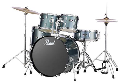 Pearl RS525SCC706 Roadshow 5-Piece Drum Set, Charcoal Metallic