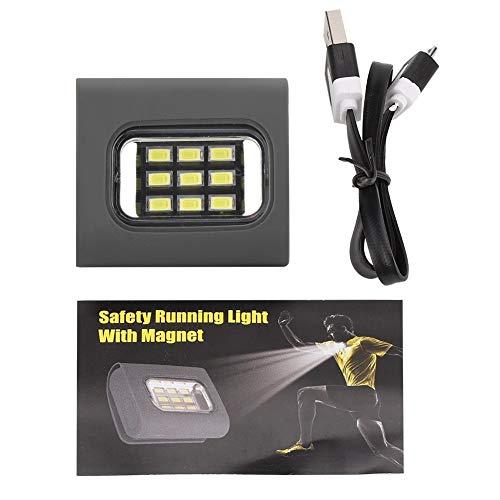 HaiQianXin Oplaadbare USB 9 COB LED-lamp met parkeerlicht voor veiligheid buiten met sterke magneetriem