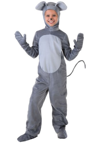 Mouse Costume Child Merry Mouse Costume for Kids Large (12-14) Gray