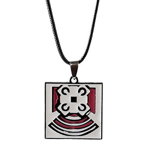 BGPOM Halsketten RegenbogenFrauenHalskette Männlich Männer Schmuck HalslosFemmeQuadrat Zinklegierung-Echo_50Cm
