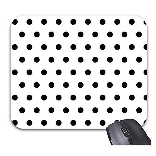 "Smity 106 Black White Polka Dot Mouse Pads Trendy Office Desktop Accessory Large Size 11.8 x 9.8"""
