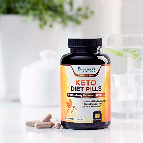 Keto Diet Pills - Keto Advanced Weight Support 1200mg - Utilize Fat Instead of Carbs, Ketosis & Ketogenic Supplement with Raspberry Ketones, Mango & Apple Cider Vinegar - 180 Capsules 4