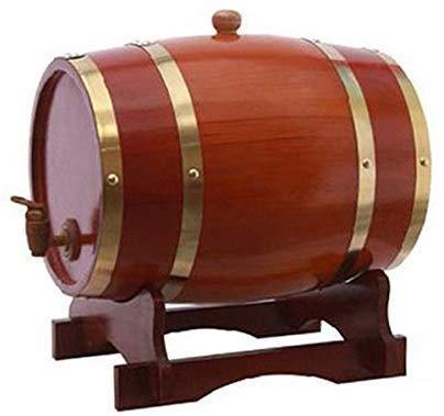 JLDN 5 Liter Barril de Vino, Barril de Madera de Roble Envejecimiento Barril con Grifo con Filtro Revestimiento de Papel de Aluminio para Vino, licores, Cerveza y el Licor,A