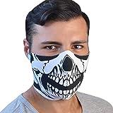 TJ MARVIN - Máscara de neopreno, diseño de calavera A16