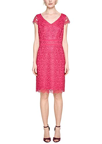 s.Oliver BLACK LABEL Damen Figurbetontes Kleid aus Spitze Magic pink 36