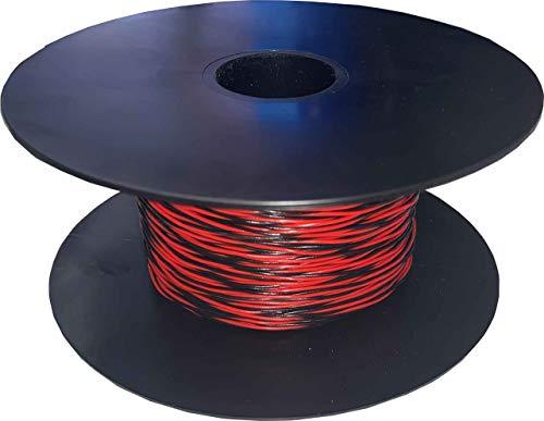 Kab24® Schaltdraht YV 2 x 0,5/0,9 Schaltlitze Zwillingsdraht 100m Spule