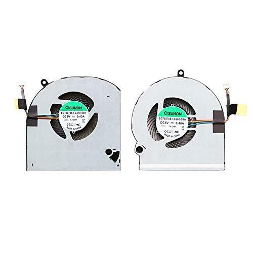 Ventilador de CPU Nuevo ventilador de refrigeración de CPU + GPU Compatible con Dell Alienware15 R3 R4 P69F Series 4 cables P / N: 07FRVC 03FT5 EG75070S1-C260-S9A EG75070S1-C270-S9A Accesorios.