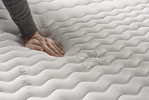 NATURALEX | Matelas Extra Visco 70x190 Cm | Double Technologie | Mousse A Mémoire Maintien Optimal | Système 8 Couches Confort Blue Latex | Adaptation Flexible Progressive | Respirabilité Maximale