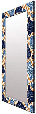 999Store Printed Blue Clouds Pattern Mirror