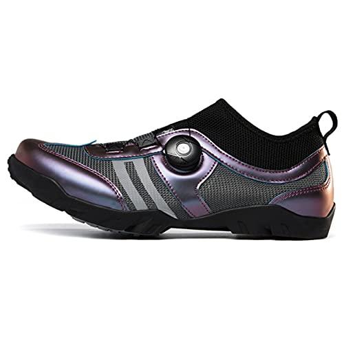 YANE Zapatillas De Ciclismo para Hombre Bicicletas De Carretera Zapatillas De Montar con Cordones Automáticos Zapatillas Transpirables Zapatillas De Bicicleta Spin Racing para Hombres