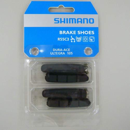 Shimano Bremsgummi R55C3 Bremsbelag, schwarz, Einheitsgröße