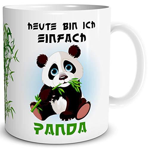 TRIOSK Tasse Pandabär mit Spruch lustig Einfach Panda Bären Geschenk Pandaliebe für Arbeit Büro Kollegin Frauen Freundin Pandaliebhaber