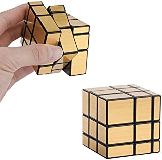 Qiyi Mirror Cube 3x3, Magic Cube 3x3x3 Irregular Gold Mirror Smooth Speed Puzzle Cube