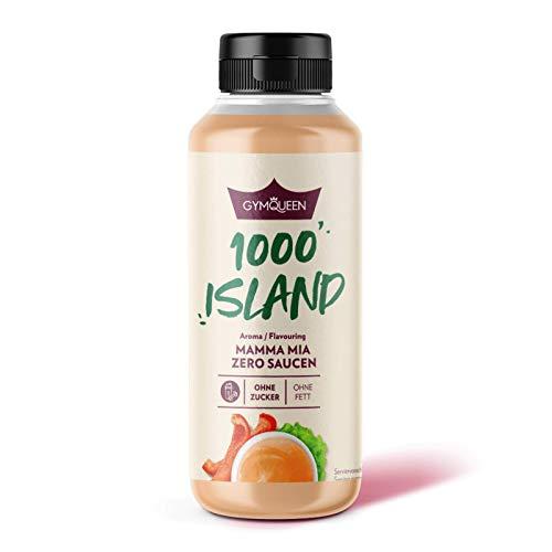 GymQueen Mamma Mia Zero Sauce, kalorienarm, ohne Fett & ohne Zucker, zum Verfeinern von Gerichten oder als Salat-Dressing, vegetarisch und laktosefrei, 1000 Island