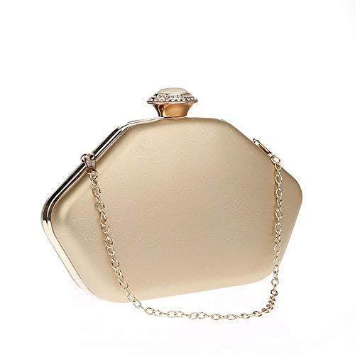 xiangpi New PU women's bag, clutch bag, dinner bag, good match with casual bag-Golden