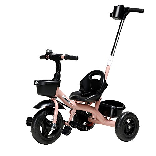 Best Review Of Qivor Baby Carriage Infants and Young Children 1-3 Years Old Tricycle Bicycle Carts B...
