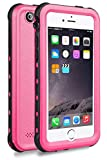 iPhone 5 5S SE Waterproof Case,2016 Shockproof Dropproof Dirtproof Rain Snow Proof Full Body Protective Cover IP68 Underwater Case Built-in Screen Protector for iPhone 5S 5 SE (Pink)