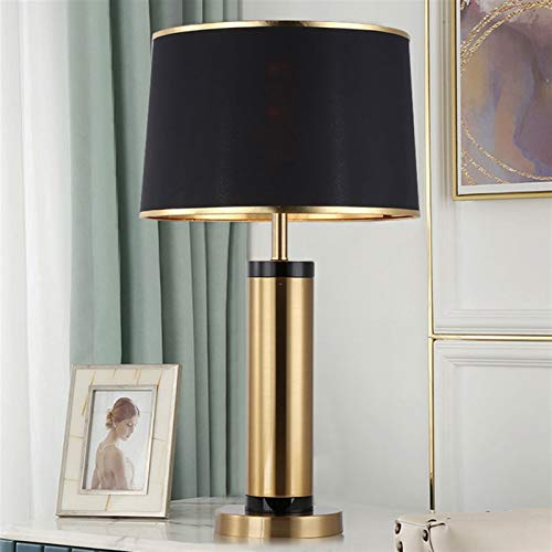 FYSH Exquisite Kunstdekorationsbettlampe Europäischen Stil Light Luxus Tischlampe Moderne LED Kreative Romantisches Schlafzimmer Nachttisch Wohnzimmer Studie Dekoration Beleuchtung